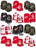 Wholesale Matt Helm - Men detroit red wings #43 darren helm #13 tomas jurco #71 dylan larkin #22 matt lorito 39 anthony mantha 2017-2018 Stitched NHL Jersey