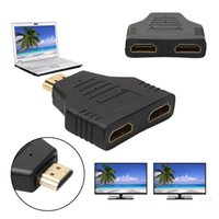 Wholesale Hi Speed Hdmi - Portable 1080P HDMI Male to 2 Female 1 In 2 Out Splitter Adapter Protector Hi Speed 1x2 HDMI Splitter Converter