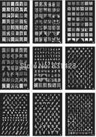 16pcs Wholesale-commerci all'ingrosso / LOT NUOVO A-Z Series formato medio di XL Stamp timbra piatto di immagine di arte del chiodo Stampa grande fai da te GRANDE Template