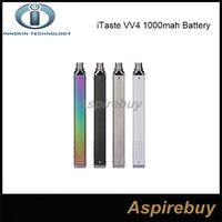 Wholesale e cigarette innokin - 100% Original Innokin iTaste VV4 Battery 1000mah Variable Wattage VW Mode 6-15W VV 4.0 E Cigarettes Battery 4 Colos Available
