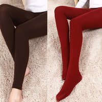 Mode Gestrickte Schlanke Leggings Super Elastische Sexy Leggings Für Frauen Ankunft Casual Warme Winter Dünne Faux Samt Knöchellangen Leggings