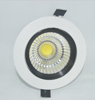 Wholesale white led manufacturers - Fashional home lighting round cob led down lamp white color China manufacturer 7w 5w led downlight