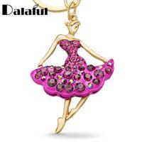Wholesale girl ballet dancer - Ballet Ballerina Dancer Girl Souvenir Gift Keychain Purse Bag Buckle HandBag Pendant For Car Keyring Holder Women Jewelry K229