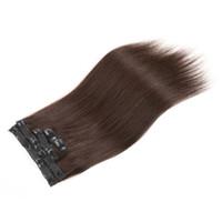 ingrosso vendita dei capelli umani biondi-Prezzo di vendita caldo Prezzo superiore Estensioni dei capelli umani naturale colore nero Colore marrone Colore biondo opzioni 160g 18 pezzi set, DHL libero