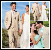 Wholesale Wedding Party Suit Vest - 2015 New Red Carpet Groom Tuxedos Champagne Formal Wear Wedding Party Groomsman Suit Men's Suit (Jacket+Pants+Tie+Vest) Bridegroom Suit