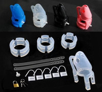 Wholesale Sexual Device Adult - wholesale - Male chastity devices silicone penis cage cock lock cage bondage SM products sex toys Marital sexual adult products