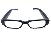ingrosso occhiali da sole mini-Occhiali HD 1080p mini fotocamera occhiali pinhole fotocamera Occhiali da sole MINI DV DVR registratore video digitale vocale nero