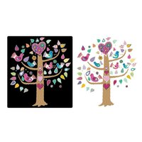 Wholesale Glow Birds - glow in the dark colorful cartoon flower bird tree wall sticker home decor for kids room decals luminous mural