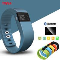 pulsera bluetooth achat en gros de-TW64 Bluetooth 4.0 Fitness Tracker Activité Intelligente Bracelet Bande Pulsera Inteligente Bracelet Intelligent Pas Fitbit Flex Fit Bit ios