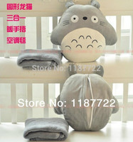 Wholesale Air Conditioned Pillow - My Neighbor Totoro Square Pillow The New Round With Three Warm Shou Wu Totoro Pillow Pillow Air Conditioning Blanket Soft
