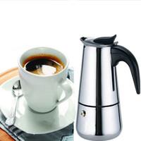 Wholesale Moka Coffee - New 2 Cup Stainless Steel Moka Espresso Latte Percolator Stove Top Coffee Maker Pot #52419 A3