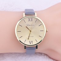 Wholesale Ladies Watch Dials Wholesale - New Arrival Wholesale geneva women leather watches fashion ladies simple design casual dress roma dial wrist watches for women