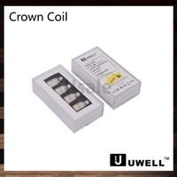 uwell corona de doble bobina al por mayor-Uwell Crown Tank Sub ohmios Bobinas dobles 0.25ohm 0.5ohm 1.2ohm Bobina simple 0.15ohm Ni200 TC Bobinas Corona de repuesto Cabeza de bobina 100% original