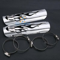 Wholesale Wholesale Exhaust Pipes For Motorcycles - Hollow Flame Motorcycle Exhaust Muffler Heat Shield Cover Heel Guard Exhaust Pipe Shield For Honda Kawasaki Yamaha Suzuki Harley order<$18no