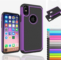 """Wholesale Hybrid Football Case - For Apple iPhone X 5.8"""" Hybrid Armor Rugged Rubber Shockproof Phone Case For iPhone 8 7 plus Football Cover Case"""