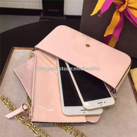 Wholesale brown leather bag sale - New Fashion Women Bag Handbag Phone Holder Case Purse Wallet brand designer women messenger bag corssbody sale discount original box