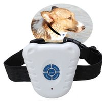 Wholesale Pet Safe Training Collar - 2016 Hot sale Electronic Pet Barking Stopper Training Shock Control Ultrasonic Safe Anti Bark Stop Dog training spak Collars Leashes