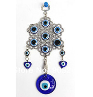Wholesale islamic decorations - 20pcs lot Islamic decoration Lucky charm Evil Eye Charms Pendants Antique Hanging Decoration Ornament Jewelry Findings Wholesale