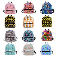 Wholesale kids string school bag resale online - Cartoon Printing Canvas Backpacks Mini School Bags For Teenage Girls Backpack Kids School Shoulder Bags Small Women Bag OOA3560