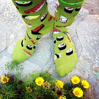 Wholesale Wholesale Animal Print Products - Wholesale-2015 new products cotton socks unisex both men and women innovative sushi pattern elastic, free shipping