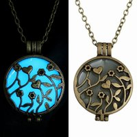 Wholesale Craft Pendant Frame Wholesale - DIY European Rose Hollow Out Locket Vintage Pendants Box Craft Photo Frame Locket Jewelry Charms Finding