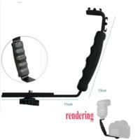 Wholesale Heavy Duty Light Stands - (Photo Studio Accessories Heavy Duty Photo Video L bracket with 2 Standard Hot Shoe Mount for Light Camera Flash Brackets