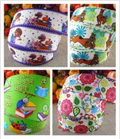 Wholesale Ladybug Ribbon Wholesale - 15% off new style 1'' (25mm) 50 yards scooby doo,Doc Mcstuffins, flowers ,book ladybug back to school printed grosgrain ribbons cartoon