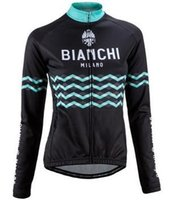 Wholesale Bianchi Cycle Clothes - 2017 Bianchi Team Men's Cycling Jerseys Set, Winter Thermal Fleece Bicycle Clothing Men Bicycle Clothing Bike Clothes Bike Jersey