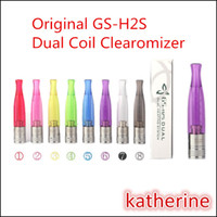 Wholesale Clearomizer H3 - Original GS-H2S Clearomizer 1.5ml Colorful GS H2S Dual Coils Updated GS H2 Atomizer as GS-H2 GS-H3 GS-H5 GS-H2L Atomizers 8 Colors