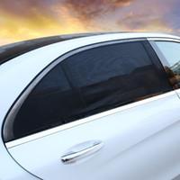 pare-soleil de fenêtre latérale automatique achat en gros de-Couverture de voiture Protection auto pare-brise pare-brise Protecteur UV Black Net Shadow Sun Shade
