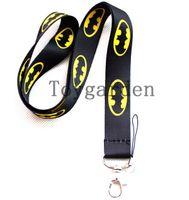 Wholesale Batman Lanyards - Free shipping 10pcs New polyester Batman lanyards movies cartoon key chains for mp3 4 5 cellphone