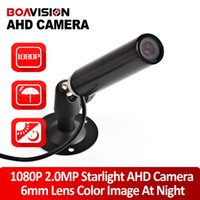 """Wholesale Low Light Mini Camera - 1 3""""IMX322+NVP2441H Star Light Low Lux Day Night Color Image Camera 1080P Realtime HD 2.0MP Mini Bullet AHD CCTV Camera Outdoor"""