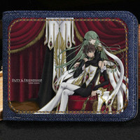 Code Geass wallet Lelouch Lamperouge bolso de dibujos animados Anime short cash note case Money notecase Leather burse bag Tarjeteros