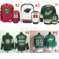 Wholesale Only Design - Factory Outlet, Own your design NO. & Name minnesota wild Jerseys or blank home away Sewn On Embroidery logos Only part of your Retail