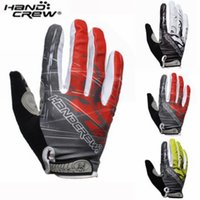 Wholesale Handcrew Bike Gloves - Wholesale-Top Quality! New HANDCREW Cycling Bike Bicycle Motorcycle Sports Racing FULL finger Gloves 3-Colors