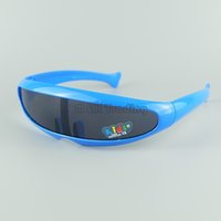 vasos de plástico para niños al por mayor-Alien Cool Children Goggles kids Sunglasses Moda bebé Sun Glasses Plastic Case tienen 8 colores 20pcs