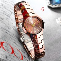 Wholesale Couple Watches Automatic - (In stock ) new fashion slim waterproof LADIES WATCH QUARTZ female couple Bracelet Watch free shipping and steel