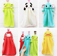 Wholesale Wholesale Hand Dryers - Quick Dry Super Absorbent Coral Fleece Hand Towels Soft Thick Drying Hand Towel Fingertip Towel - Total 5 Vibrant Colors & Cute Animals Pat