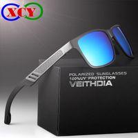 Wholesale Hd Sport Goggles - HD Aluminum Magnesium Men Brand Sports Driving Fishing 57MM Polarized Sunglasses Glasses Goggles oculos de sol Mirror With Original Box