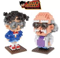 Wholesale Detective Conan Toy - Wise Hand Weagle mini diamond building blocks children assembled toys Detective Conan Case Closed Set Educational Brick Gift