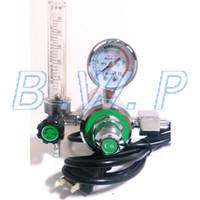 Wholesale Mig Welding Gas - Wholesale-CO2 Flowmeter Gas Heater Regulator 220V M12x1 Outlet Thread for MIG Welding Machine
