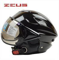 Wholesale Electric Motorbikes - ZEUS 125B Motorcycle helmet ABS half face motorbike helmet summer electric bicycle helmet UV personalized fashion helmets