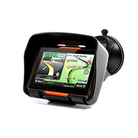 Wholesale Gps Maps Australia - Updated 256 RAM 8GB Flash 4.3 Inch Moto Navigator GPS Moto for Motorcycle Waterproof gps Navigation with FM Free Maps