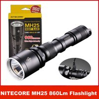 Wholesale Nitecore Rechargeable Flashlight - NiteCore MH25 Hybrid 960 lumen LED Rechargeable Flashlight w  Charger & Battery