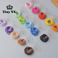 Wholesale Mini Babe - 10 Pcs  lot (1 pack) Mini 2.5mm thickness hair ropes little girls Slim hair ties kids Babe hair ropes accessories