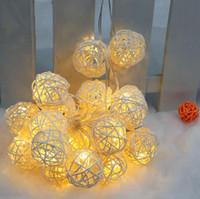 Wholesale White Led Ball Lights - LIXADA Plastic Warm White 20 LED Garland Rattan Vine Ball Lamp Fairy String Lights for Party Wedding Christmas Home Decoration