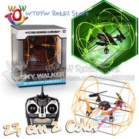 Wholesale 6ch Rc Plane - Wholesale-1 piece free shipping 2 colo flash rc remote control quadcopter quadrocopter quadricopter rc helicopter 6ch plane aircraft