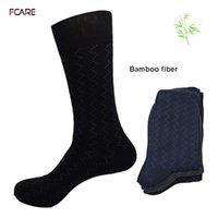 Wholesale Calcetines Bamboo - Wholesale- Fcare 6PCS=3 pairs bamboo fiber 43,44, 45 cotton sokken calcetines hombre meias masculino long leg plus size big men socks