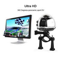 Wholesale Panorama Cameras - 4K Ultra HD WiFi Mini Panoramic Action Camera 2448*2448 Panorama Camera 360 Degree Sport Driving VR 30m Waterproof 4K Camera