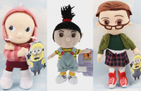 Wholesale Despicable Edith - 3pcs lot Movie Despicable Me Plush Toys Orphan Girl Margo Edith Agnes Cuddly Stuffed Animal Doll Toys